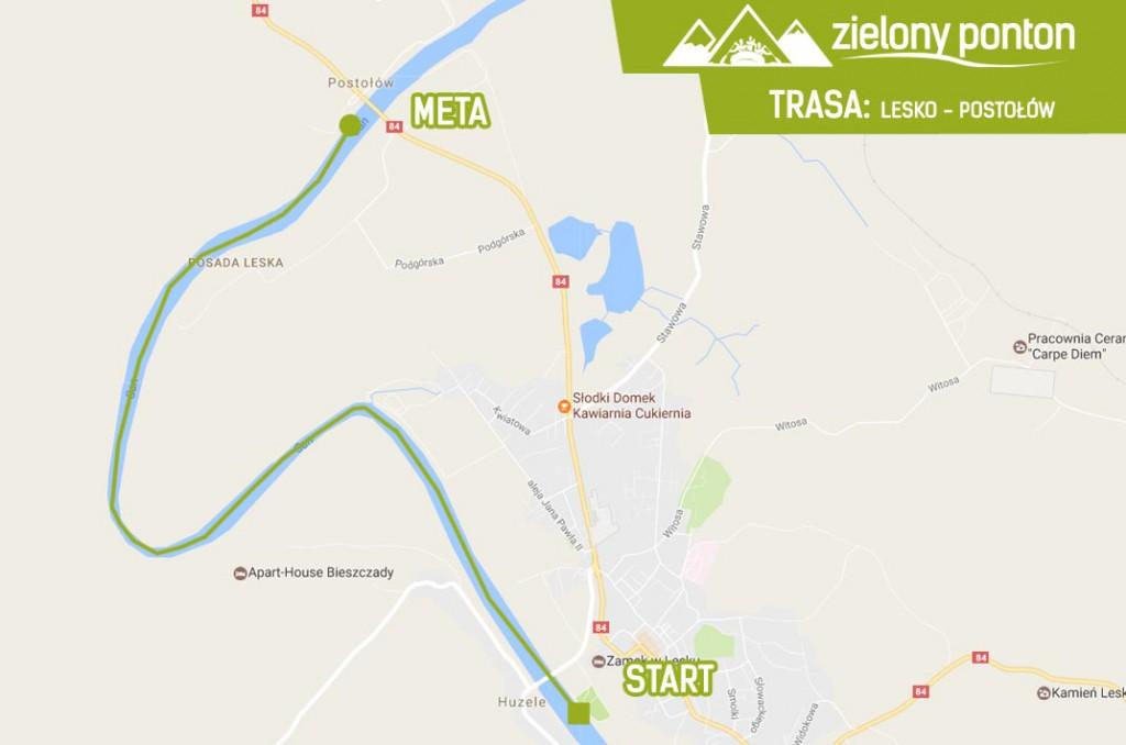 zielony-ponton-trasa-lesko-postolow