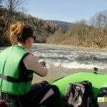 Rafting w Bieszczadach, spływy pontonowe wiosna Bieszczady, spływy górnym Sanem w Bieszczadach,