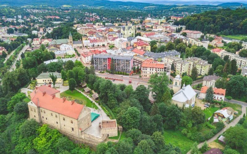 Bieszczady, Sanok - panorama.