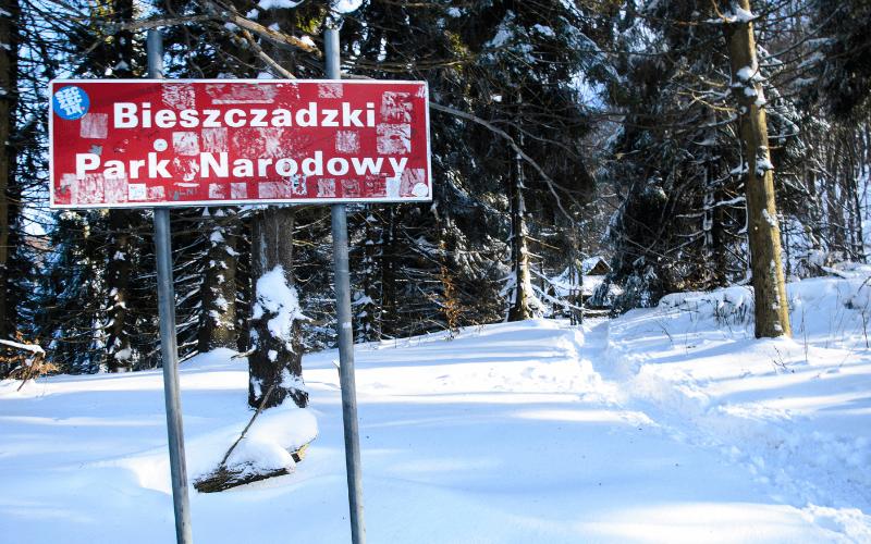 Bieszczadzki Park Narodowy tablica.