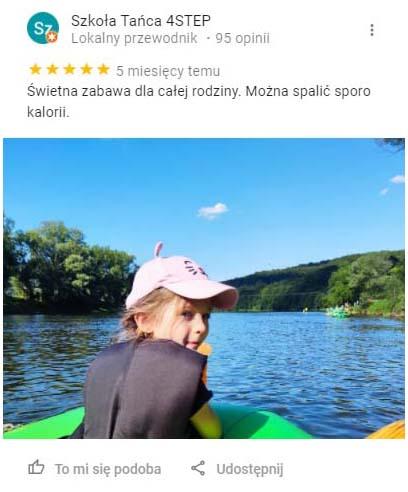 Opinia ze zdjęciem dziewczynki na spływie Sanem.