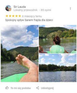 """Zdjęcia """"spływowicza"""" z pięknego wypoczynku na Sanie."""