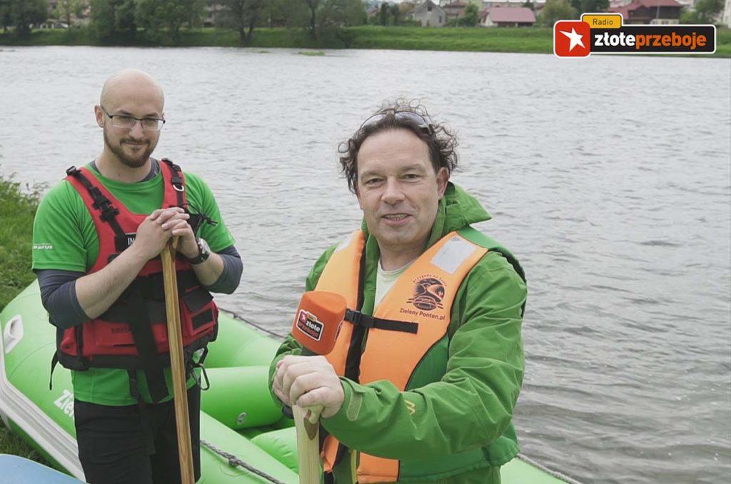 zielony-ponton-spływy-sanem-radio-złote-przeboje-pełna-strona-podkarpacia